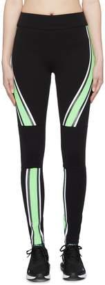 NO KA 'OI No Ka'Oi 'Kanawai Koa' contrast stripe panelled performance leggings