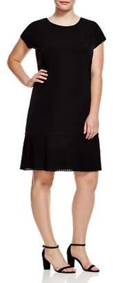 MICHAEL Michael Kors Short Sleeve Pleat Hem Dress