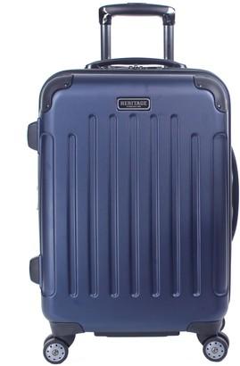 "Logan Heritage Luggage Heritage Square 20"" Hardside Spinner Carry-On Suitcase"