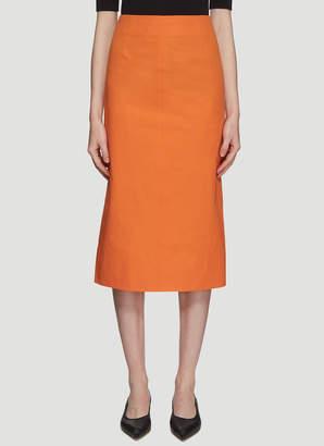 Kwaidan Editions Pencil Skirt in Orange