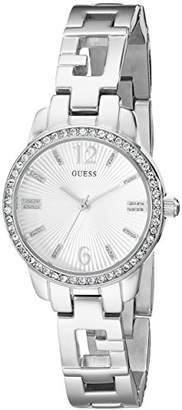 GUESS Women's U0568L1 Iconci -Tone Logo Watch with Genuine Crystals & Self-Adjustable Links