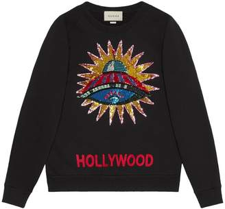 Gucci UFO embroidered sweatshirt