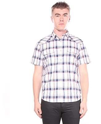 Lucky Brand Men's Casual Short Sleeve Plaid Western Button Down Shirt