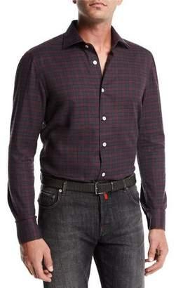 Kiton Gingham Cotton Shirt
