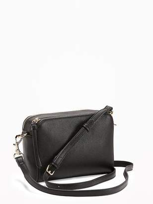 Old Navy Faux-Leather Camera Bag for Women