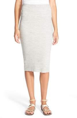 James Perse Rib Body-Con Midi Skirt