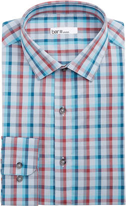 Bar III Men's Slim-Fit Stretch Easy-Care Double Multi Check Dress Shirt