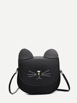 0f67cfcc78 Shein Cat Design Seam Detail Crossbody Bag
