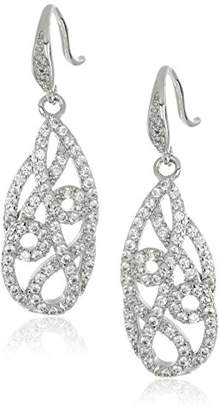 "Carolee Floral Lace-Bridal/Prom"" Tone Tear Pierced Drop Earrings"