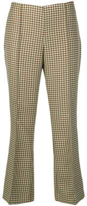 Cavallini Erika houndstooth pattern cropped trousers