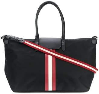Bally stripe detail overnight bag
