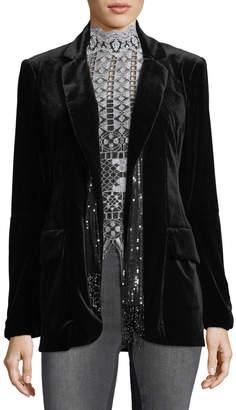 Nanette Lepore Illusionist Velvet Blazer Jacket