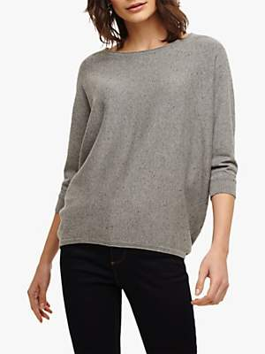 a53aa1903f Phase Eight Becca Batwing Knit Jumper, Grey Marl