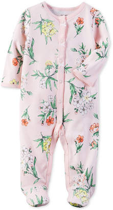 Carter's 1-Pc. Floral-Print Footed Coverall, Baby Girls (0-24 months) $16 thestylecure.com