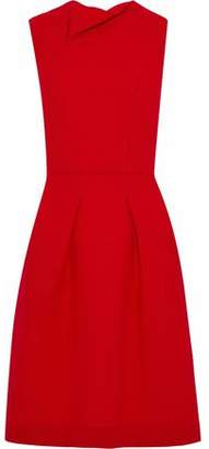 Roland Mouret Pleated Wool-Crepe Dress