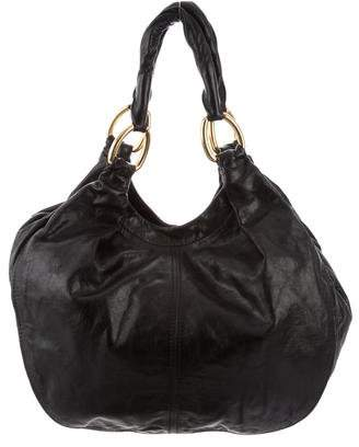 Miu Miu Large Leather Tote