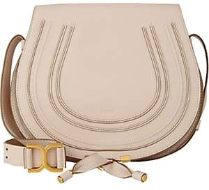 Chloé Women's Marcie Leather Crossbody Saddle Bag - White