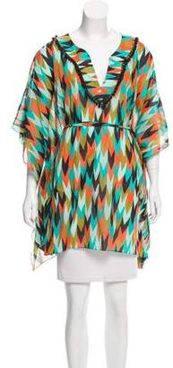 Milly Printed V-Neck Top