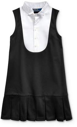 Ralph Lauren Girls' Ponte Tuxedo Dress - Little Kid