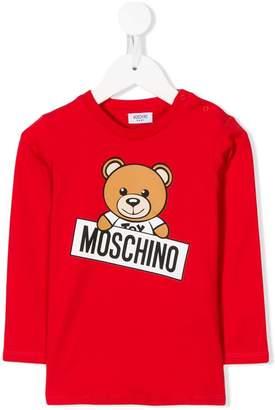 Moschino Kids Teddy Toy print top
