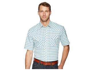 Wrangler 20X Short Sleeve Two Pocket Competition AC Snap Plaid
