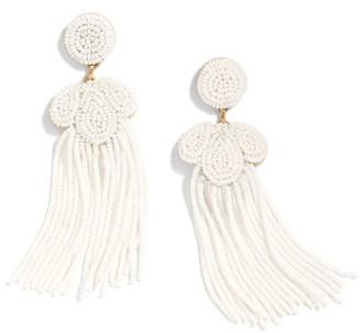 Women's J.crew Beaded Tassel Earrings $65 thestylecure.com