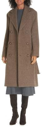 Polo Ralph Lauren Plaid Lambswool & Alpaca Belted Coat