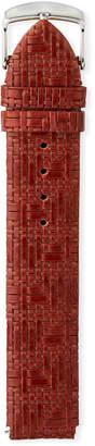 Philip Stein Teslar Woven Leather Watch Strap, Brown