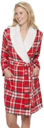 Sonoma Goods For Life Women's SONOMA Goods for Life Flannel Plush Wrap Robe