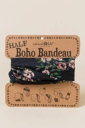 francesca's Boho Bandeau in Black Floral - Black