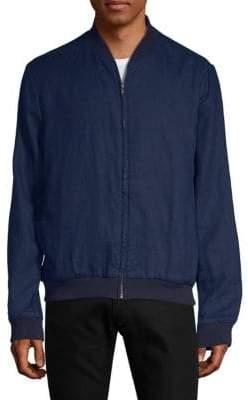 Saks Fifth Avenue Linen Bomber Jacket