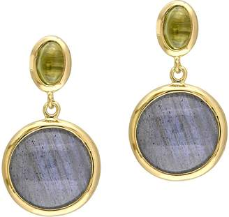 Sterling Labradorite and Prehnite Earrings
