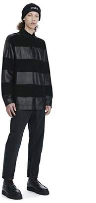 Alexander Wang EXCLUSIVE LEATHER RUGBY POLO SHIRT TOP