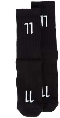 11 By Boris Bidjan Saberi logo socks