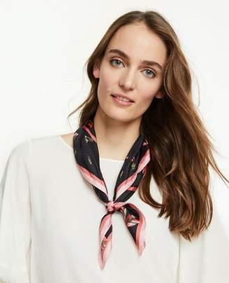 Ann Taylor Floral Silk Little Scarf