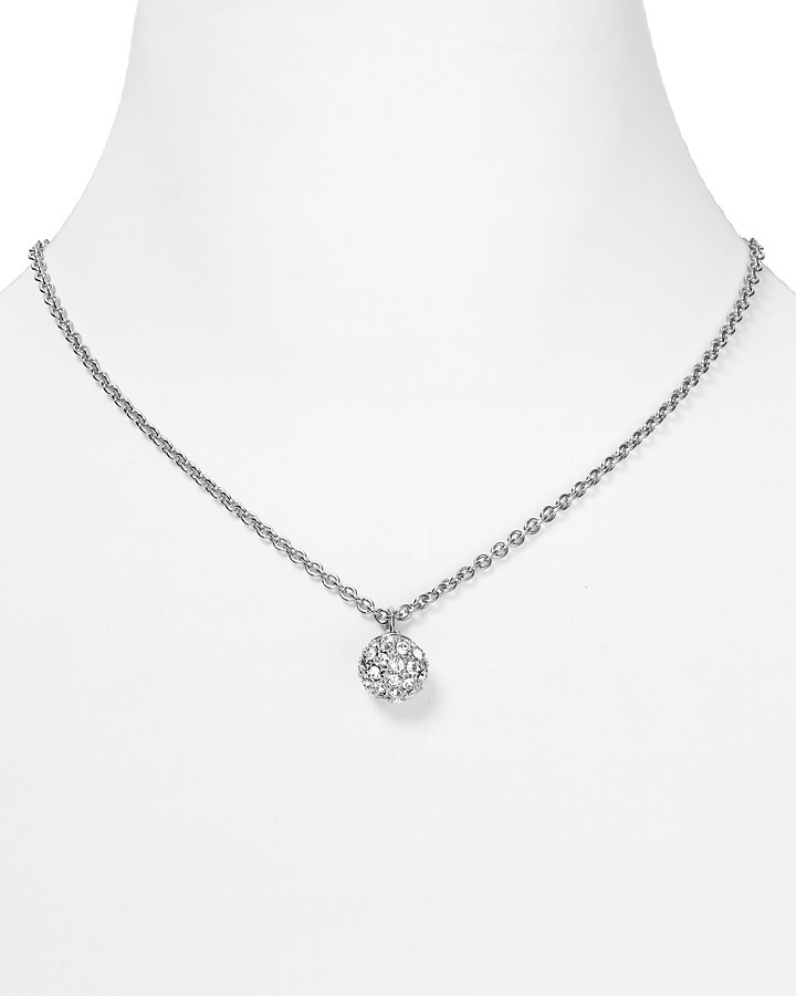 "T Tahari Pave Crystal Pendant Necklace, 18"""