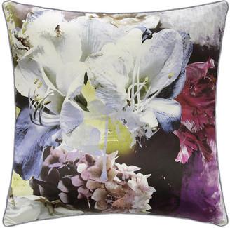 Roberto Cavalli Dark Flower Silk Cushion