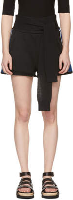 3.1 Phillip Lim Black and Blue Waist Tie Shorts