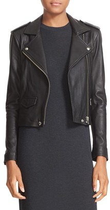 Women's Iro 'Ashville' Lambskin Leather Moto Jacket $1,200 thestylecure.com