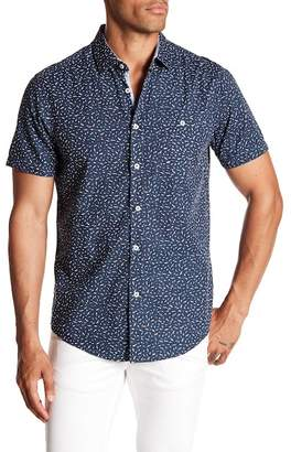 Report Collection Bird Printed Short Sleeve Slim Fit Shirt