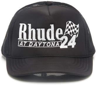 ... RHUDE Malibu Derby Printed Trucker Hat 4781a38163b1
