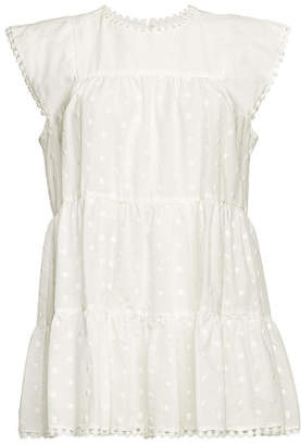 See by Chloe Embroidered Sleeveless Cotton Top