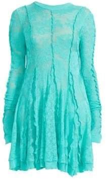 Stella McCartney Lace Fit-&-Flare Mini Dress