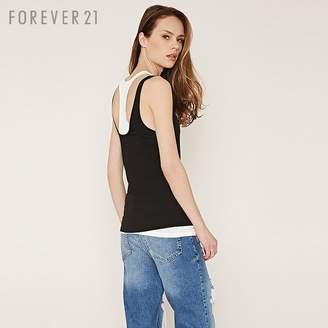 Forever 21 (フォーエバー 21) - レイヤードコントラストタンクトップ
