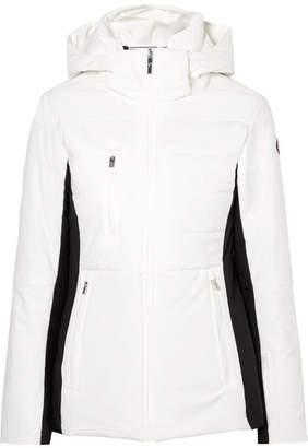 Christina Fusalp Quilted Hooded Ski Jacket - White