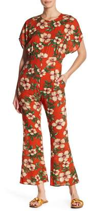 Love + Harmony Floral Flare Leg Jumpsuit