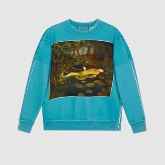 Gucci (グッチ) - オンライン限定 イグナシ・モンレアル プリント オーバーサイズ スウェットシャツ