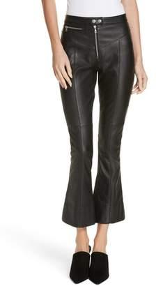 Cinq à Sept Marcelle Crop Flare Leather Pants