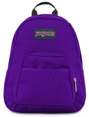 JanSport Half Pint Signature Purple Mini Backpack