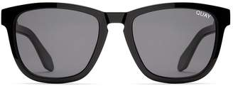 Quay Austrailia Hardwire Sunglasses Black With Smoke Lens